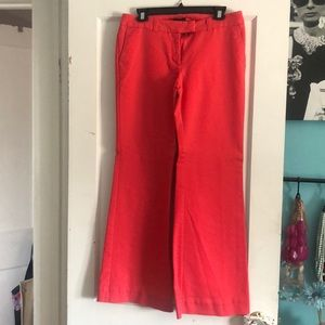 Coral wide legs pants worn one or twice.